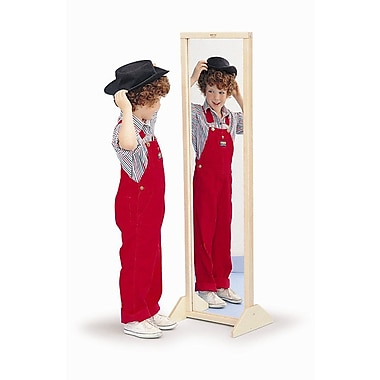 Whitney Brothers Vertical / Horizontal Mirror With Stand, Natural