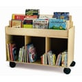 Whitney Brothers Mobile Book Storage Island, Natural