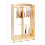 Whitney Brothers Hanging Bag Storage Unit, Natural