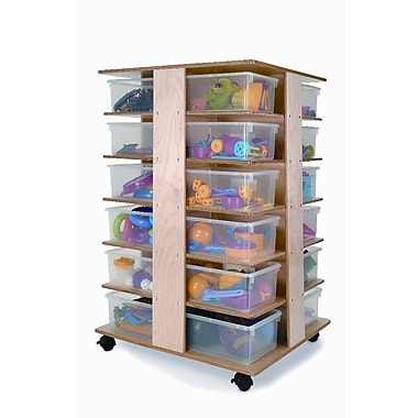 Whitney Brothers 24 Tray Cubby Tower, Natural