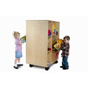 Whitney Brothers 2 Sided Mobile Backpack Storage, Natural