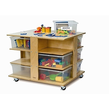Whitney Brothers 12 Tray Cubby Tower, Natural
