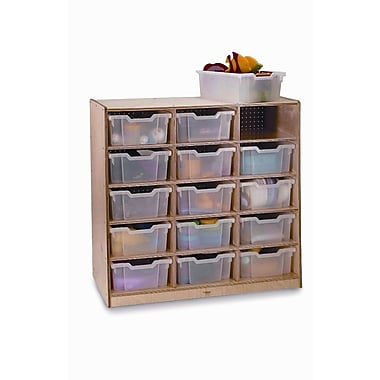 Whitney Brothers 15 Tray Storage Cabinet, Natural