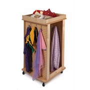 Whitney Brothers Revolving Dress Up Center With Mirror, Natural
