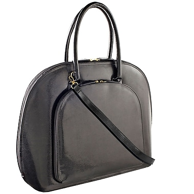 Fabrique Francine Collection Park Avenue 14inch Carrying Case For Notebook, Black