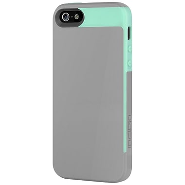 Incipio® Semi-Rigid Soft Shell Case for Apple iPhone 5, Haze Gray/Navajo Turquoise