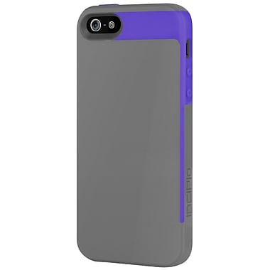 Incipio® Semi-Rigid Soft Shell Case for Apple iPhone 5, Royal Purple/Charcoal Gray