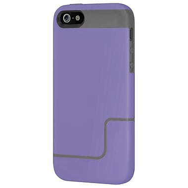 Incipio® Co-Molded Hard Shell Slider Case for Apple iPhone 5, Gray/Purple