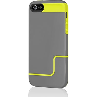 Incipio® Co-Molded Hard Shell Slider Case for Apple iPhone 5, Charcoal Gray/Citron Yellow