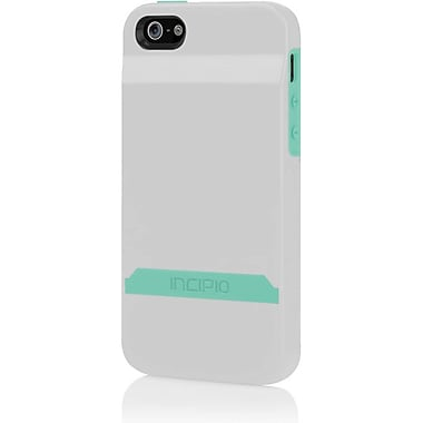 Incipio® Stashback Credit Card Hard Shell Case for Apple iPhone 5, Optical White/Navajo Turquoise
