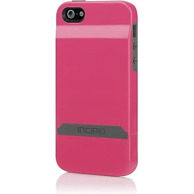 Incipio® Stashback Credit Card Hard Shell Case for Apple iPhone 5, Cherry Blossom Pink/Charcoal