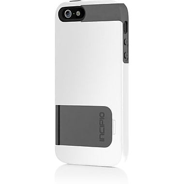 Incipio® Hands-Free Viewing Hard Shell Case for Apple iPhone 5, Optical White/Charcoal Gray