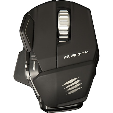 Mad Catz® MCB437100002/04/1 R.A.T. M Wireless Mobile Gaming Mouse, Matte Black
