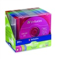Verbatim® 700MB CD-RW, Slim Case, 20/Pack