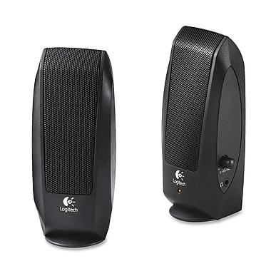 Logitech S-120 2.0 Speaker System, 2.3 W Rms, Black