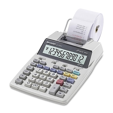 Sharp® EL1750V 2 Lines x 12 Digits Display Desktop Printing Calculator