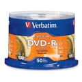 Verbatim® 4.7GB 16X LightScribe DVD-R, Spindle, 50/Pack