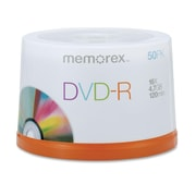 Imation Memorex™ 4.7GB 16X DVD-R, Spindle, 50/Pack