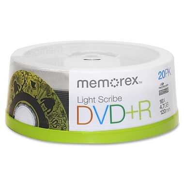 Imation Memorex™ 4.7GB DVD+R, Spindle, 20/Pack