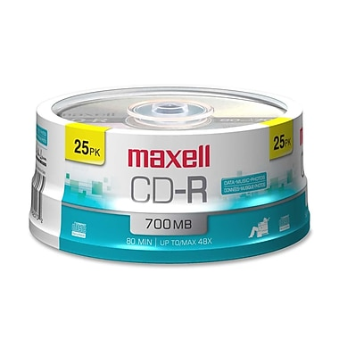 Maxell 700MB 48X CD-R, Spindle, 25/Pack