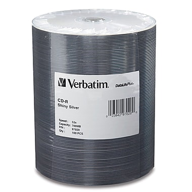 Verbatim® 700MB CD-R, 100/Pack