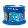 Verbatim® Digital Vinyl 700MB CD-R, Spindle, 50/Pack