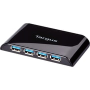 Targus 4 Ports USB 3.0 4 Port Hub, Black (ACH119US)