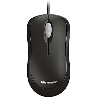 Microsoft 4YH-00005 Basic Optical Mouse, Black