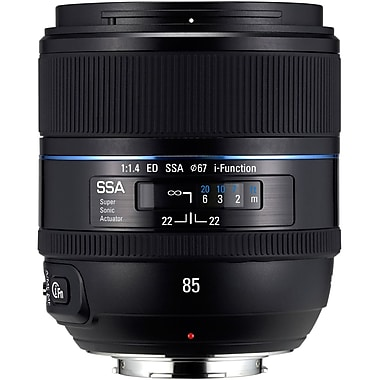 Samsung EX-T85NB/US 85mm f/1.4 Fixed Focal Length Lens For Samsung Mirrorless Camera