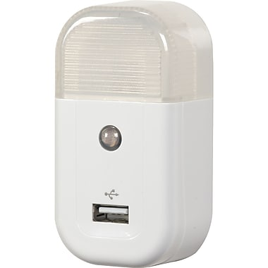 Voxx® RCA USBNL1R USB Home Nightlight Charger, White