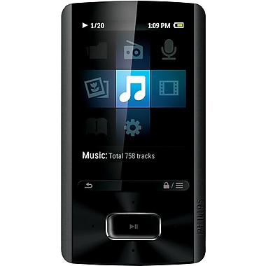 Philips SA4ARA08KF/37 2.4inch 8GB Flash Portable Media Player