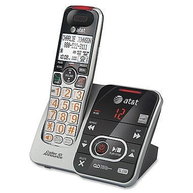 AT&T CRL32102 Cordless Phone With Answering Machine, 50 Name/Number