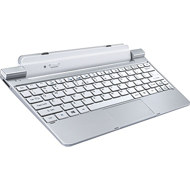 Acer® NP.DCK11.00A USB Keyboard Dock With Battery For Acer Iconia WT3/W510/W511 Tablet, White