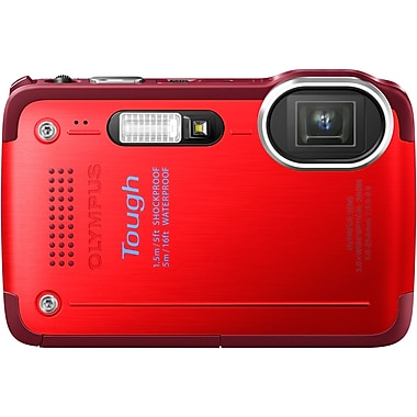 Olympus TG-630 iHS 12 Mega Pixels Digital Camera, Red