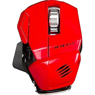 Mad Catz® MCB437100013/04/1 R.A.T. M Wireless Mobile Gaming Mouse, Red