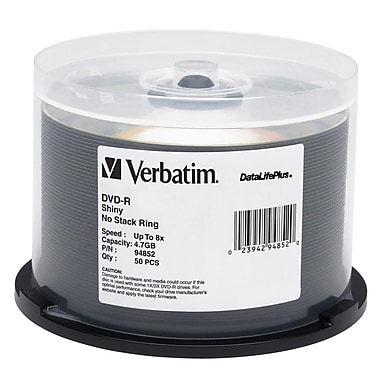 Verbatim® DataLifePlus 4.7GB 8X DVD-R, Spindle, 50/Pack