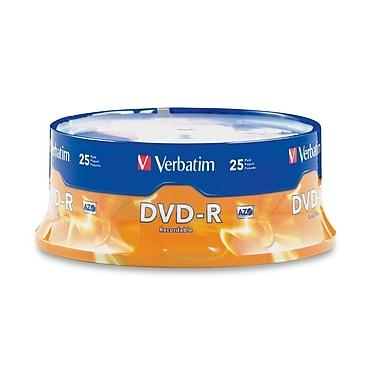 Verbatim® 4.7GB 16X AZO DVD-R, Spindle, 25/Pack