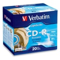 Verbatim® 700MB Gold LightScribe CD-R, Slim Case, 20/Pack