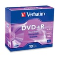 Verbatim® AZO™ 4.7GB DVD+R, Slim Case, 10/Pack