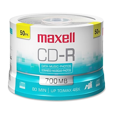 Maxell 700MB 48X CD-R, Spindle, 50/Pack