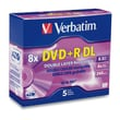 Verbatim® AZO™ 8.5GB Dual Layer DVD+R, Slim Case, 5/Pack