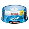 Maxell 4.7GB 16X DVD-R, Spindle, 25/Pack