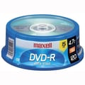 Maxell 4.7GB 16X DVD-R, Spindle, 15/Pack