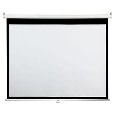AccuScreens® 800012 96in. Manual Wall and Ceiling Projection Screen, 4:3, White Casing