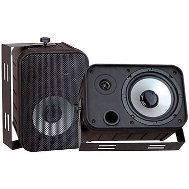 Pyleaudio® PDWR50 Indoor/Outdoor Waterproof Speaker, Black