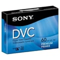 Sony® Single Premium DV Cassette, 60 min (30 x 2)