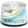 Imation TDK 700MB 32X CD-R, Spindle, 50/Pack