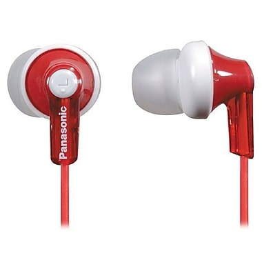 Panasonic® RP-HJE120 ErgoFit In-Ear Headphones, Red