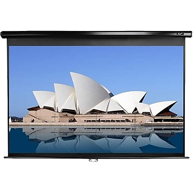 Elite Screens® Manual Series 86inch Projection Screen, 16:10, Black Casing
