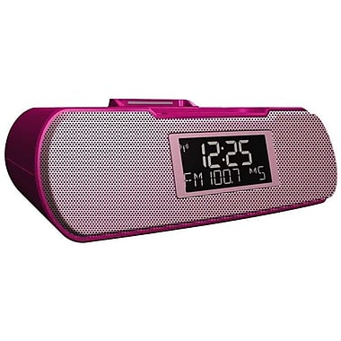 Sangean RCR-10 8W RMS Digital Tuning Atomic Clock Radio With iPod Dock